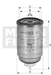 Filtr paliwa WK716/2x