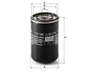 Filtr paliwa WK719/6