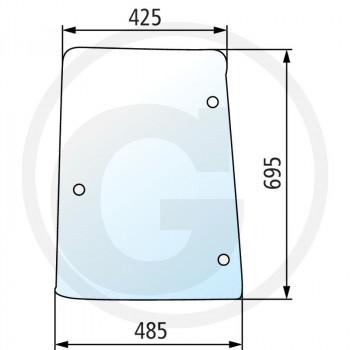 Szyba boczna lewa Case IH CS80