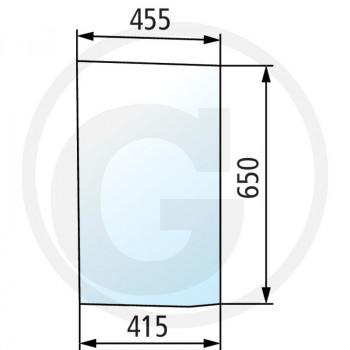 Szyba przednia dolna lewa Case IH CVX170