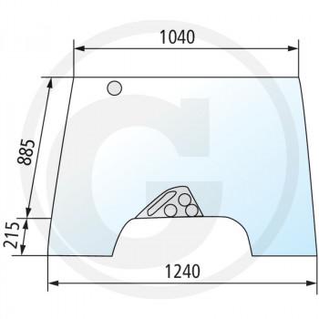 Szyba przednia uchylna Case IH CVX170