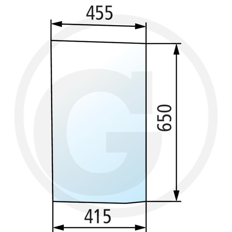 Szyba przednia dolna lewa 650S0030A5 do McCormick 90