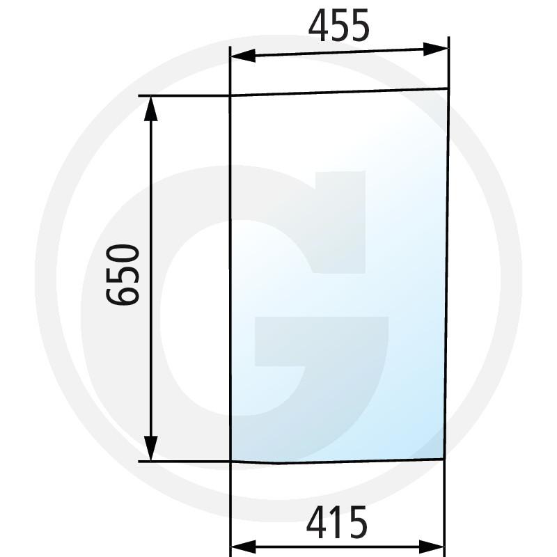 Szyba przednia dolna prawa 650S0029A5 do McCormick 150